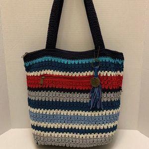 The Sak Hand-Crocheted Striped Gypsy Tote Handbag